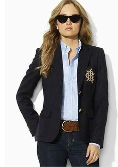 Women Ralph Lauren Polo Blazer black cheap women blazer jacket 1