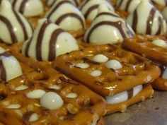 sweet and salty -- (try this instead of white chocolate dipped pretzels). definitely making these for the Christmas party this year.