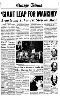 chicago tribune front cover moon landing - Saferbrowser Yahoo Image Search Results