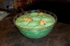 Lime sherbert punch: All you need is 7up and lime sherbert!...Love this!