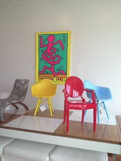 Design chairs , colorful yet modern