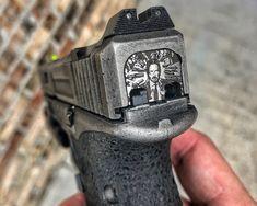 Custom Glock Back Plates Glock Guns, Weapons Guns, Guns And Ammo, Glock Accessories, Ps Wallpaper, Custom Guns, Custom Glock 19, Revolver Pistol, Gun Art