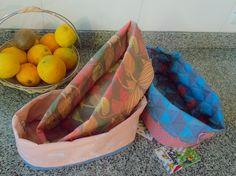 Paneras de tela estampada, varias combinaciones y colores. #Cocina #Kitchen #HomeDecor #decoracion #HogarDulceHogar