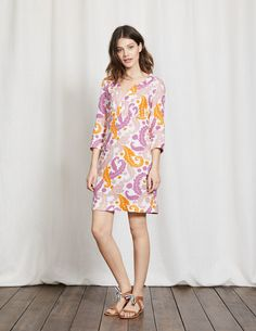 Casual Linen Tunic WW194 Dresses at Boden
