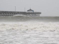 Hurricane Irene's waves on NC coast 8/26/11