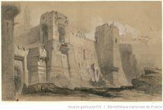 [Schamyl : esquisse de décor de l'acte V, tableau 9 : prise de la forteresse de Redout-Kalé / Charles Cambon] - 1854