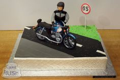 Custom cakes made in Cheshunt Motorcycle Birthday Cakes, Motorcycle Cake, 70 Birthday, Royal Enfield, Custom Cakes, Yummy Cakes, How To Make Cake, 50th, Motorbikes