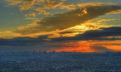 Beautiful sky over a beautiful city. Manila, Philippines.