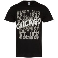 Chicago Men'sBlack Tagged Nickname Tee-Shirt - A Clark Street Sports Exclusive Chicago Shirts, Tee Shirts, Street, Sports, Mens Tops, Black, Women, T Shirts, Hs Sports