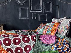 Linge de lit wax Anthropologie.com Ethnic Fashion, African Fashion, Art Tribal, African Home Decor, Interior Decorating, Interior Design, Ethnic Style, African Style, Dream Rooms