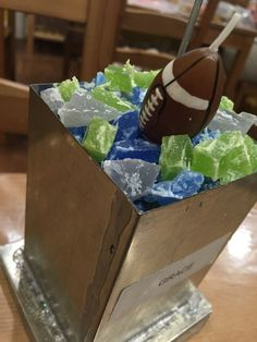 Seahawks themed candle made by one of our customers :)