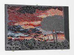 Toskanischer Sonnenuntergang Mosaik von Mandury auf DaWanda.com