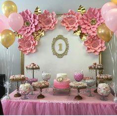 Ballerina Birthday Parties, Ballerina Party, Gold Birthday, Princess Birthday, 1st Birthday Parties, Birthday Party Decorations, Baby Shower Decorations, Baby Shower Princess, Shower Baby