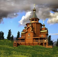 Russia's Wooden Churches Are Vanishing Russian Architecture, Art And Architecture, Architecture Details, Pretty Landscapes, Houses Of The Holy, Cathedral Church, Romanesque, Beautiful Buildings, Wonderful Places