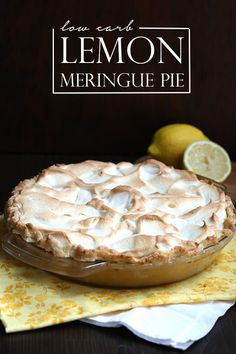 Low carb lemon meringue pie recipe, a classic!