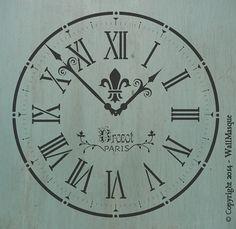 Old+Clock+Stencil+by+WallMasqueStencilCo+on+Etsy,+$35.00
