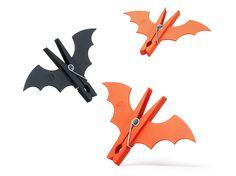 Original bat-like clothespins! #Halloween