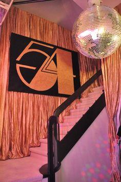 Studio 54 Birthday Party decor. See more great decor ideas at www.sparklerparties.com/studio-54