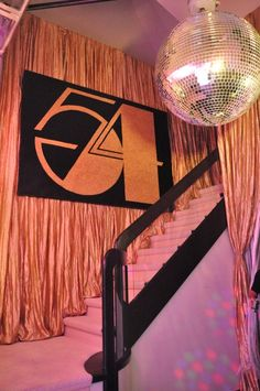 Studio 54 Birthday Party decor. See more great decor ideas at www.sparklerparties.com/studio-54