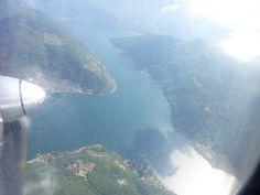 """Lago di Lugano, """"Swissair"""" Lugano→Zurich"""