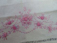 Vintage Embroidered Linen Guest Towel by ContemporaryVintage, $15.00