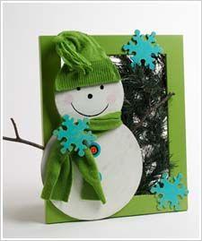 Snowman Wreath Frame Project