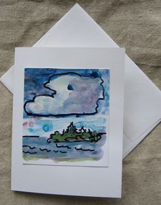 Original Art - Hand Painted - Greeting Card - Unique - Made in Maine by theRandoMshoE on Etsy