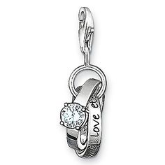 "THOMAS SABO ""Wedding rings"" with spring clasp"