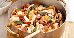 Avoid the day-to-day meal-idea doldrums with this pasta creation using leftover pork.