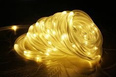 12 Volt Rope Lights Le® 165Ft Led Solar Rope Lights Waterproof 50 Leds Outdoor Rope