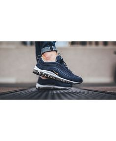7d117ab5fa3c Nike Air Max 97 Trainers MIDNIGHT NAVY   GOLD