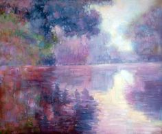 Monet - Misty Morning on the Seine (pink) ~ Hand painted oil reproductions available at overstockArt.com