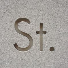 carved signage