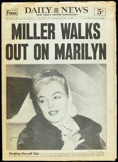 NEW YORK - NEWSPAPER - DAILY NEWS - 1960 - CONTROVERSY - HEADLINE - MARILYN MONROE - 12394