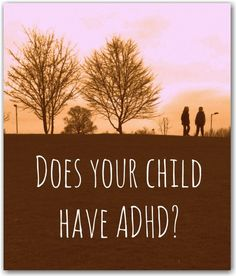 "Does your child have ADHD? - ""ADHD is a common behavioural disorder which is slightly more frequent in boys although it is not clear at this point why that is. The thing is most children at some point will show these behavioural characteristics, especially when they are very young. The difference is that children with ADHD are like this for longer periods of time and wherever they go."" Short, but sensitive article for parents just beginning to explore ADHD."