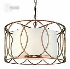 $500Troy Lighting F1285SG Sausalito Transitional Foyer Light TL-F-1285-SG