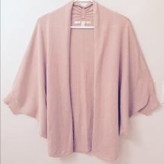 Lauren Conrad Shawl No trades!  Worn once practically new!  Pale pink color perfect for fall/winter. Lauren Conrad Tops Tunics