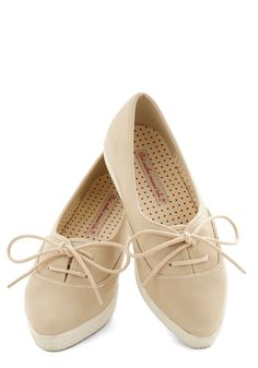 Sweet to See You Flat in Nougat, #ModCloth