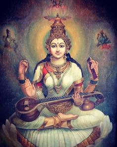The sacred art as an offering to the Gods, and joy of men website page counter Saraswati Painting, Lord Shiva Painting, Tanjore Painting, Shiva Hindu, Shiva Art, Hindu Deities, Shiva Shakti, Saraswati Goddess, Durga Maa