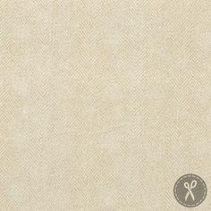 Woolies Flannel Fabric Herringbone - Ivory