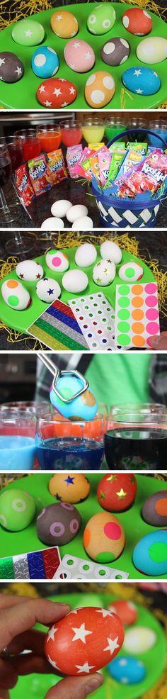 Kool Aid Eggs   DIY #Easter Egg Decorating Ideas for Kids   Easy #Easter Egg Crafts for Kids