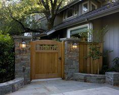 "Decorative Landscape Columns/Posts - 18"" x 18"" 30"" tall Custom Brick/Stone Veneer Post Mounted Columns/Posts"