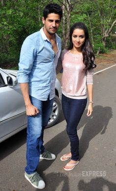 'Ek Villain' lead actors Shraddha Kapoor and Sidharth Malhotra shot an episode for detective television series 'CID'. #Style #Bollywood #Fashion #Beauty