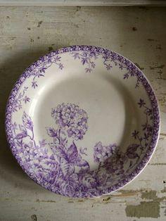 Vintage Plates, Vintage Dishes, Vintage China, China Tea Cups, Shades Of Purple, Purple Haze, Blue Plates, China Patterns, Porcelain Ceramics