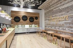Frozen By a Thousand Blessings by Kalliopi Vakras Architects WOOD PANELLED WALLS, CAFE