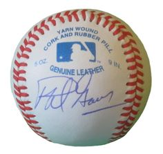 Phil Garner Autographed Rawlings ROLB1 Leather Baseball, Proof Photo