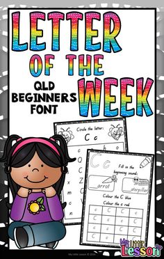 These Letter of the Week Activities have been created using the Queensland…