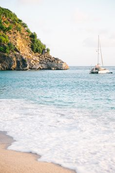 Sailboat Docked in St Barth