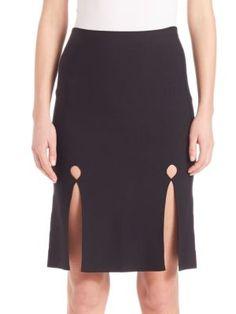 ALEXANDER WANG Front Keyhole Pencil Skirt. #alexanderwang #cloth #skirt