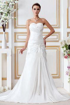 Charming A-line Sweetheart Floor-Length Chapel Miriama's Beach Wedding Dress